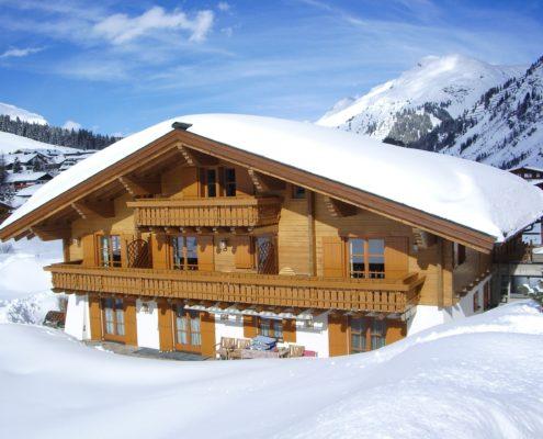 Winter Ansicht - Apartments Haus Schönblick - Lech am Arlberg